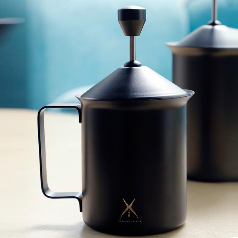 奶泡器 手動 咖啡打奶器雙層打奶泡杯304不鏽鋼拉花壺打奶 奶泡機
