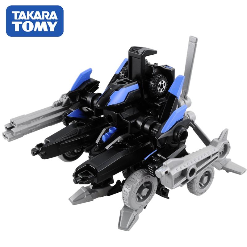 日本TOMY多美卡拼插模型男孩玩具变形装甲车855439含小车1辆
