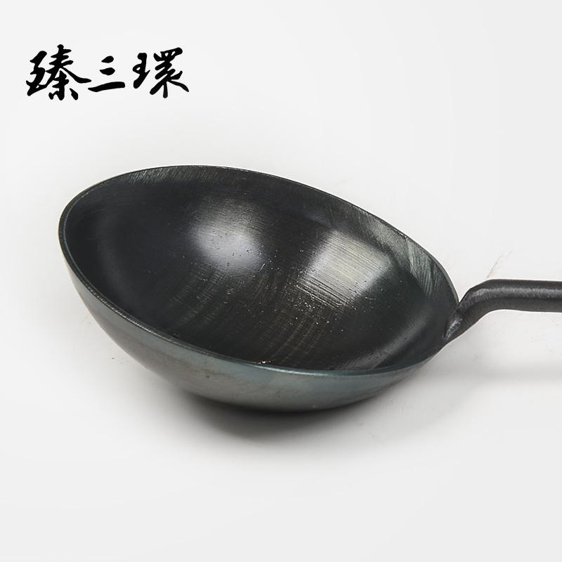 臻三环手工锻打铲勺套装锻打熟铁用品锅铲长把勺子炒勺厨房锅铲