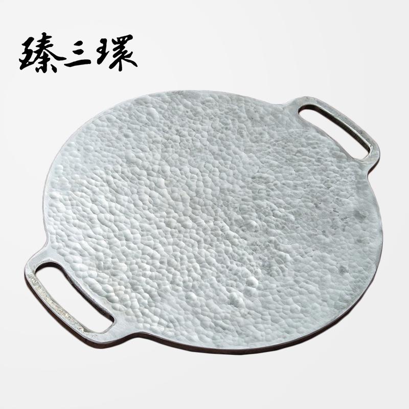 臻三环手工煎锅八荒无涂层煎饼锅熟铁煎饼果子锅平底锅鏊子厚10mm