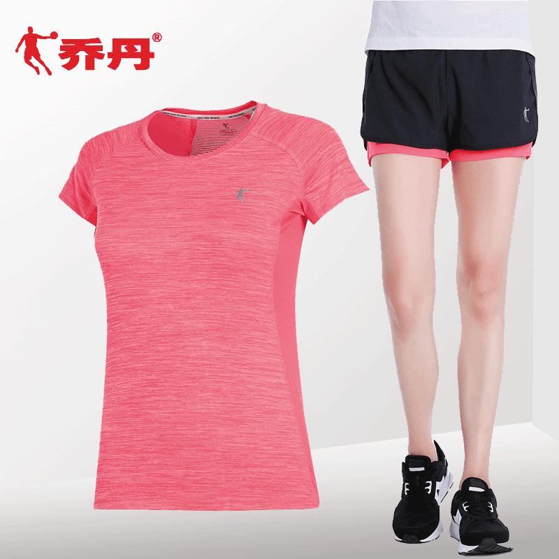 乔丹运动套装女夏季透气短袖t恤宽松耐磨短裤健身速干衣女运动服