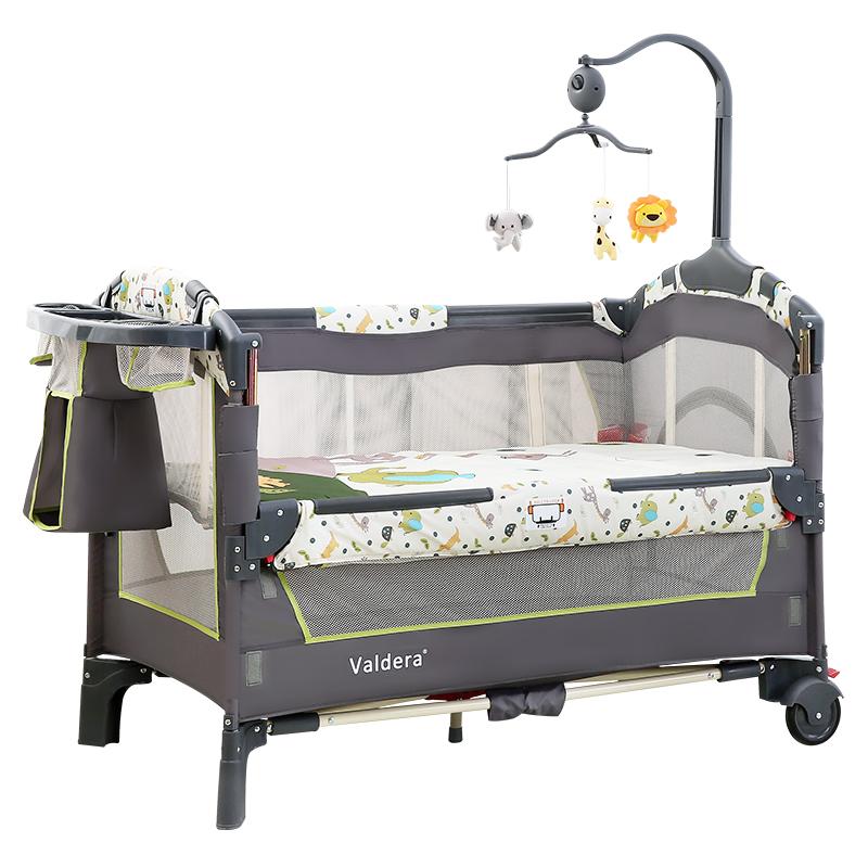 valdera便携式可折叠婴儿床多功能宝宝床新生儿游戏床瓦德拉bb床