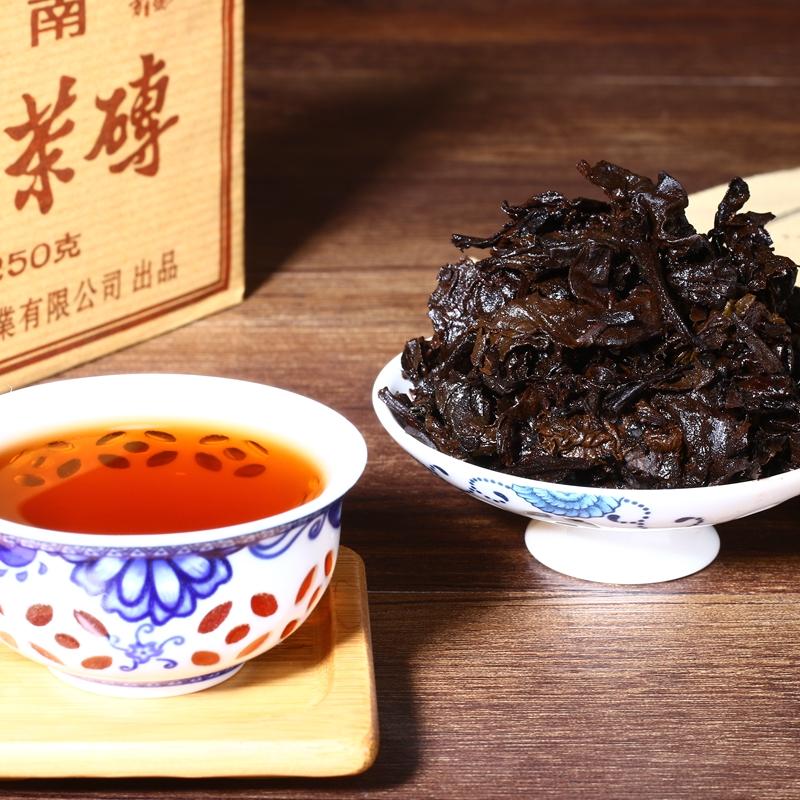 口粮茶包邮 克砖茶 1000 片共 4 克茶砖× 250 熟茶 片普洱茶叶 4 整提