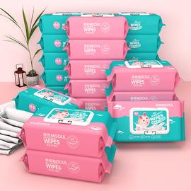 棉嫂湿巾纸巾婴儿手口屁专用幼儿新生儿宝宝80抽5大包装特价家用