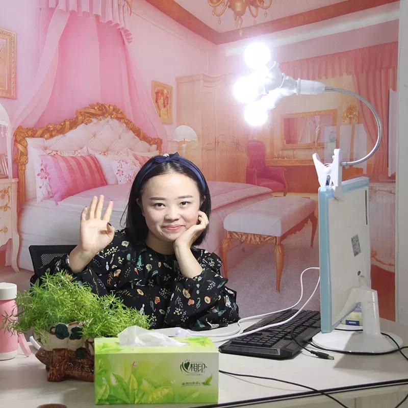 手機直播補光燈主播美顏嫩膚高清瘦臉桌面小型打光燈房間檯燈網紅自拍燈抖音拍照神器美光女主播電腦通用燈光