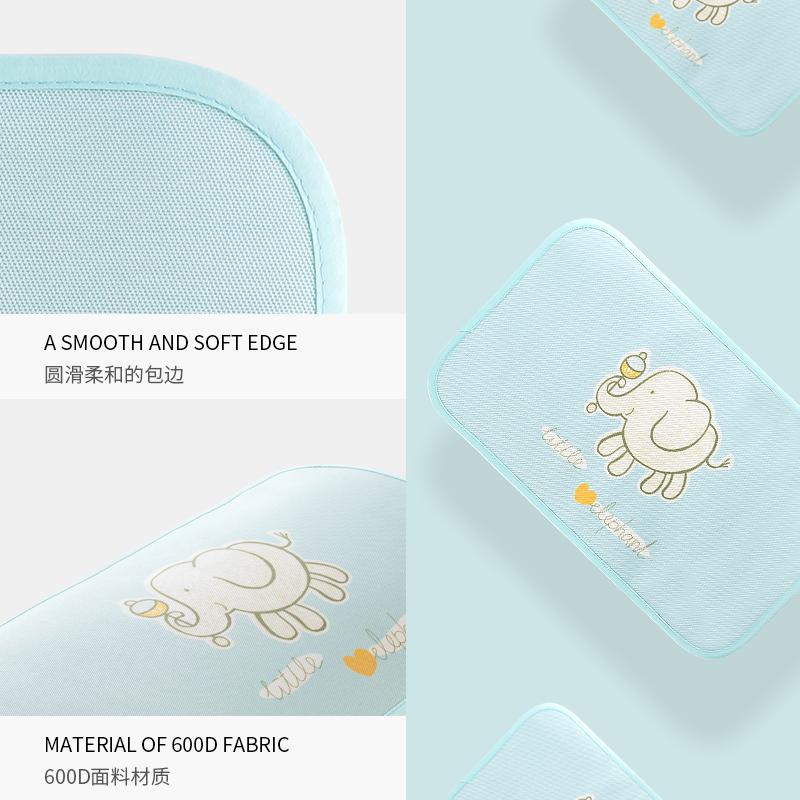 婴儿枕头夏季冰丝透气凉爽男女儿童枕席子夏天吸汗舒适宝宝枕头套