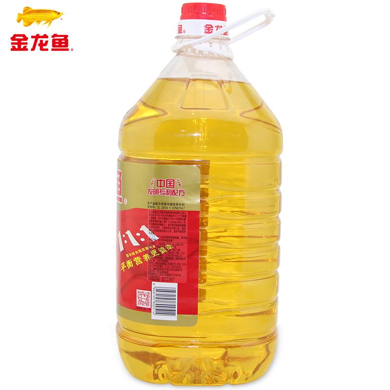 金龙鱼调和油5升/桶食用油厨房调和油黄金比例植物油金龙鱼油粮油