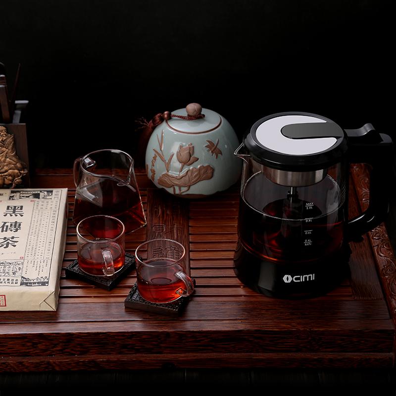 全自动保温蒸汽电煮茶壶 西麦煮茶器黑茶普洱玻璃电热水壶蒸茶壶