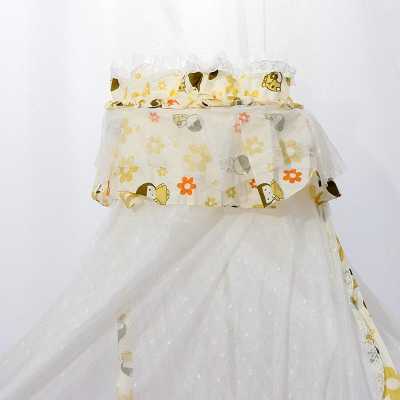三木比迪蚊帐 婴儿蚊帐带支架无底豪华宫廷蚊帐儿童落地式蚊帐罩