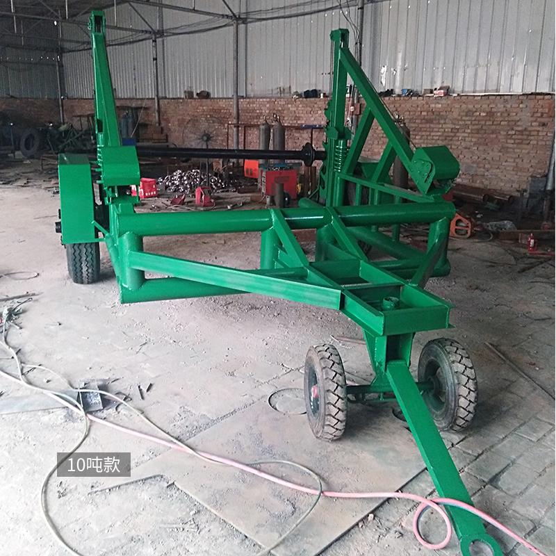 电缆拖车3T5T8T液压电缆放线车多功能拖车收放两用线缆电线盘炮车