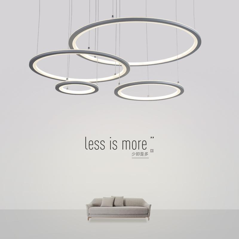 意圆环形高档艺术圆圈餐厅灯饰