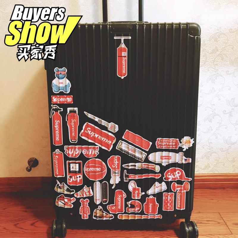 潮牌superme个性行李箱贴纸电脑滑板吉它冰箱防水旅行行李箱贴纸