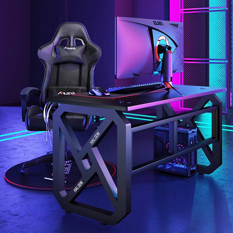 网吧全套游戏桌椅套装一体桌子