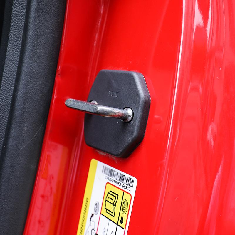 STsporttech门锁盖适用于15-19款野马专用限位器盖汽车门锁保护盖