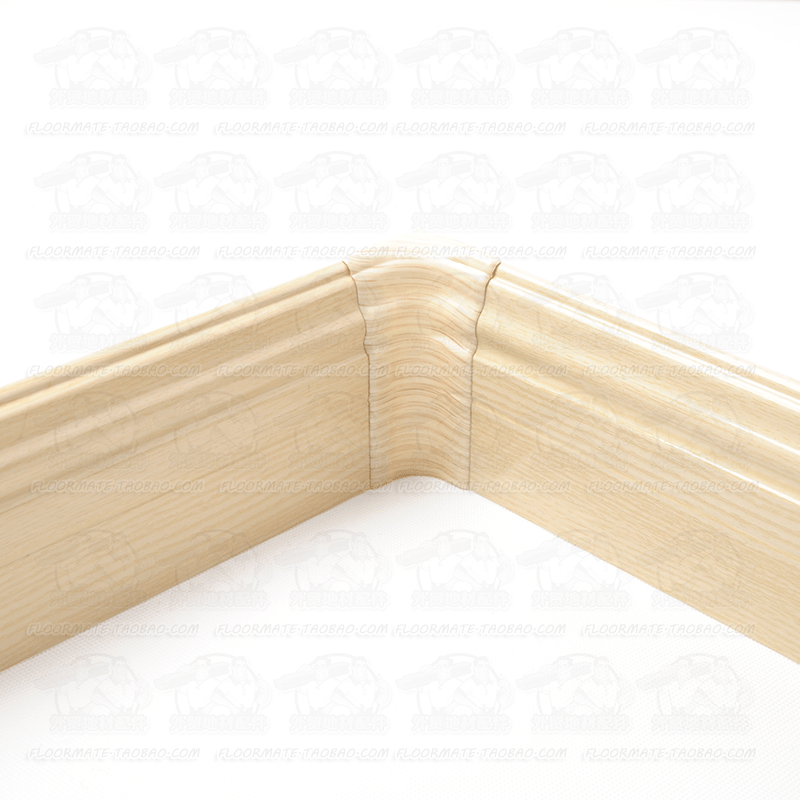 木纹铝合金踢脚线地脚线实木地板橱柜拉丝厂家直销太空铝不锈钢