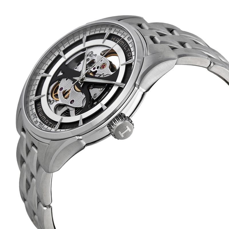 瑞士汉密尔顿Hamilton爵士系列全镂空钢带绅士机械男表H42555151