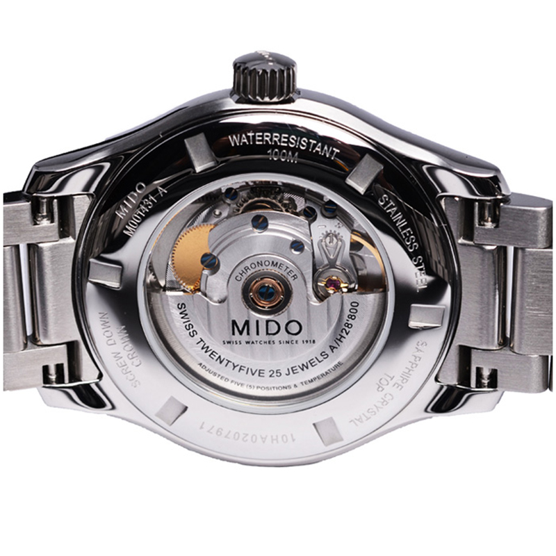 美度Mido瑞士手表布鲁纳系列钢带自动机械男表M001.431.11.061.02