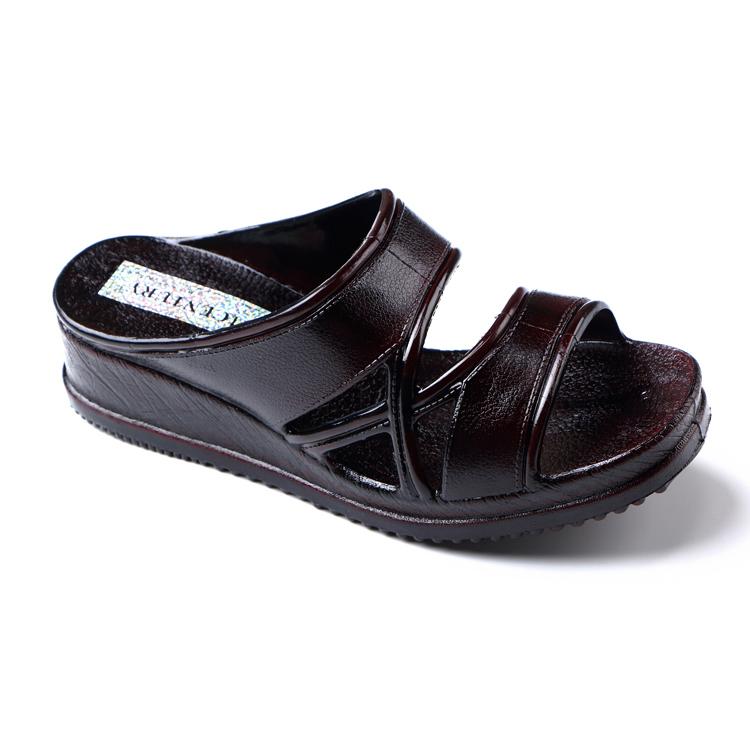 女人台湾21CENTURY中年拖鞋家用高跟坡跟外穿夏成熟妈妈一字凉拖