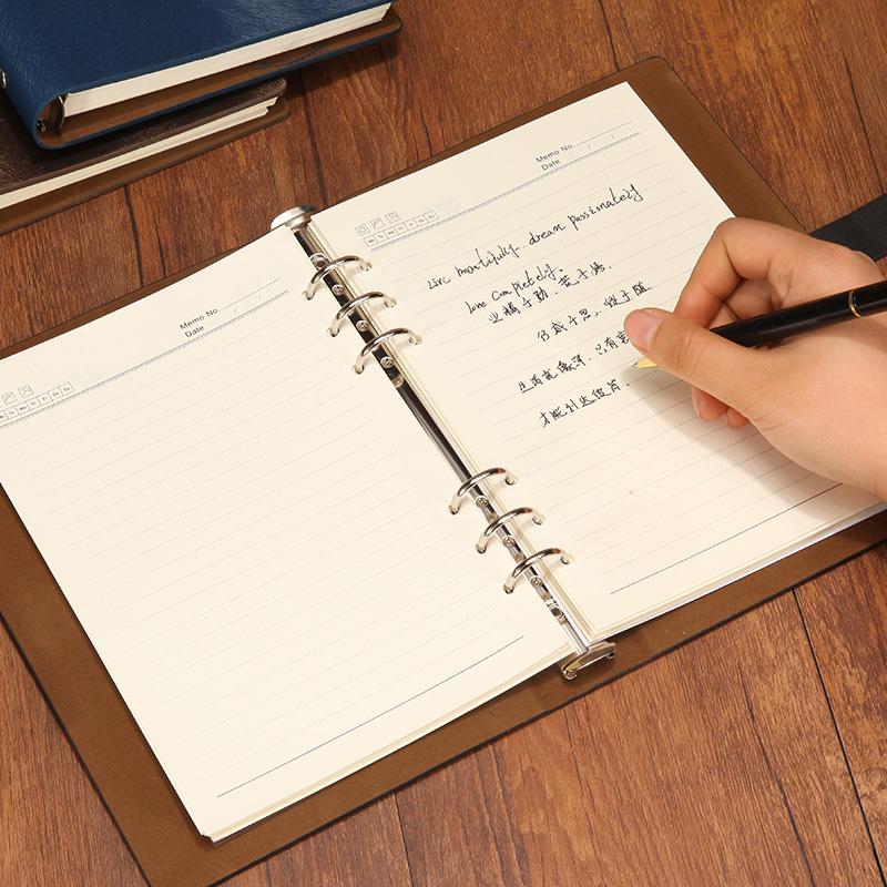 金属扣A5笔记本文具B5本子活页本A4记事本可定制公司LOGO办公本子