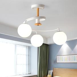 北欧吊灯创意风格马卡龙客厅卧室灯餐厅个性简约儿童房间吧台吊灯