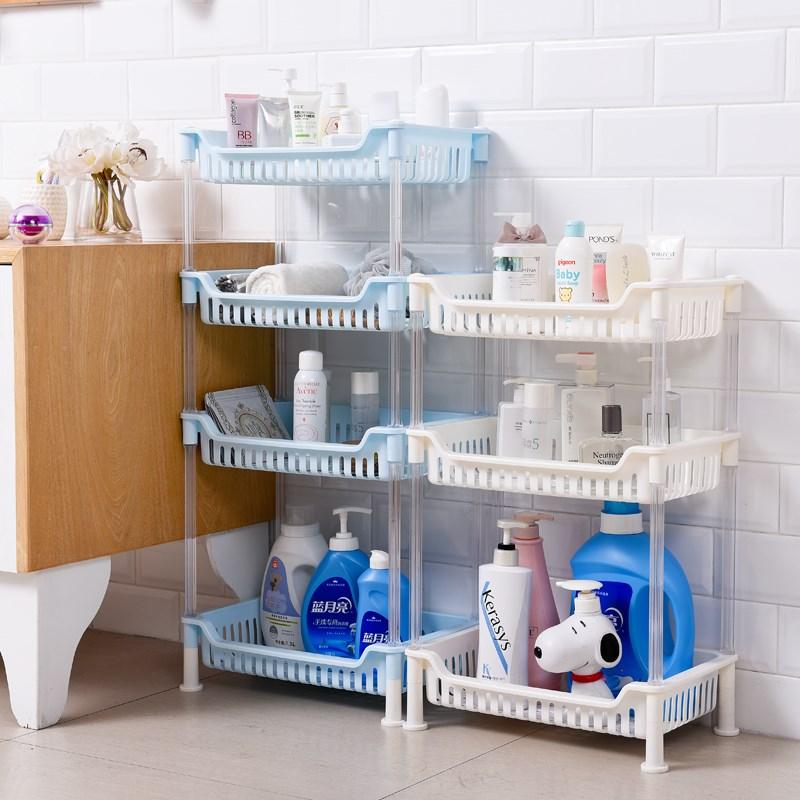 浴室置物架落地衛生間用品置地式洗手間廁所塑料洗澡收納架子三層
