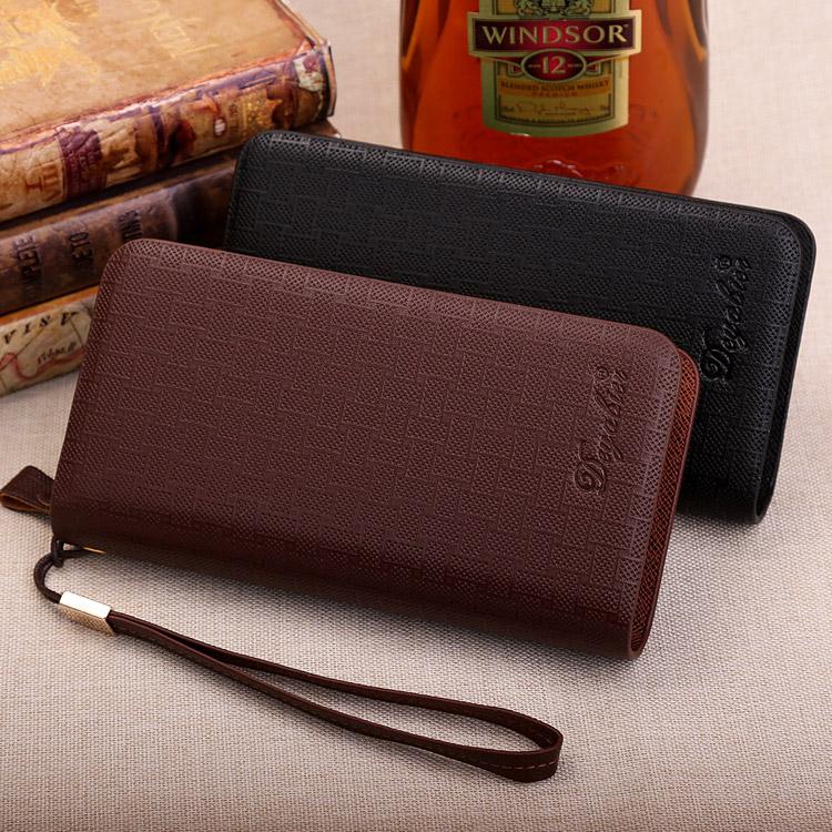 韩版潮男手拿包手抓包包 长款商务大容量拉链手包手机包 男士钱包