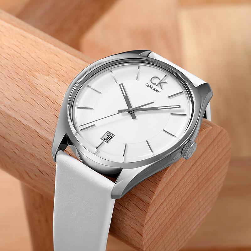 瑞士CK手表卡文克莱石英男表K2H21101夜光日历时尚潮流