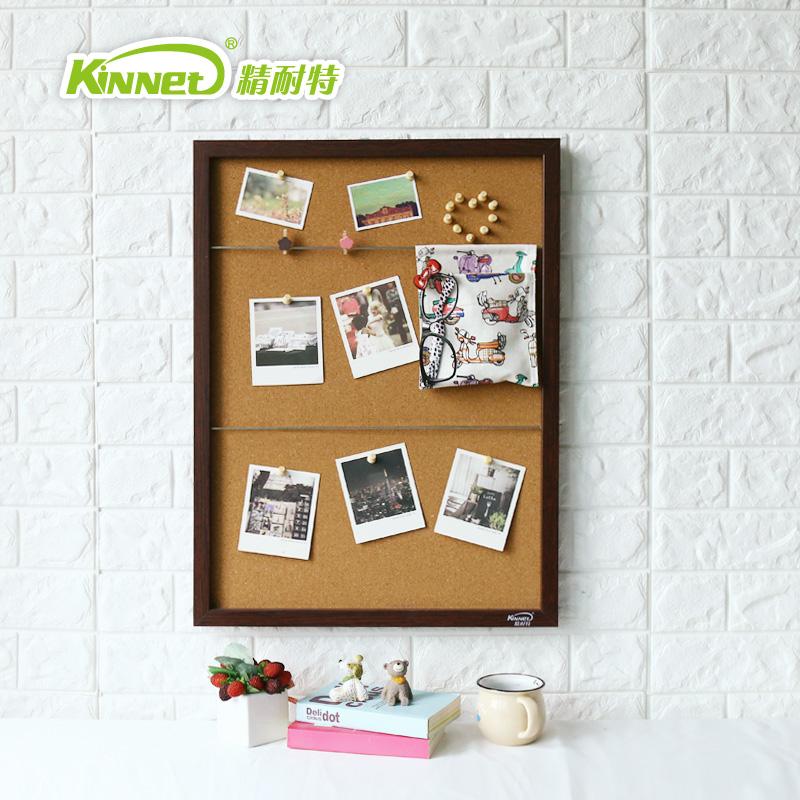精耐特 软木板留言板挂式家用记事板实木框背景照片墙公告栏
