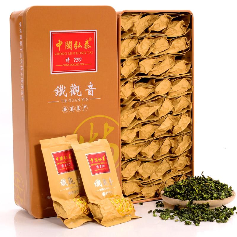 买一送一中闽弘泰浓香型茶叶高山安溪铁观音乌龙茶共500g