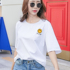 2020 new summer loose printed cotton short-sleeved t-shirt women's white Korean version plus size all-match student shirt