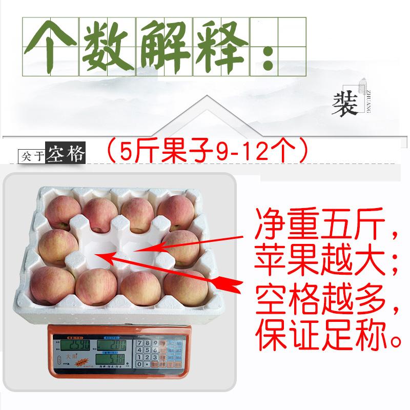 山东新鲜苹果水果应季红富士苹果批发一整箱平果5斤包邮吃的萍果