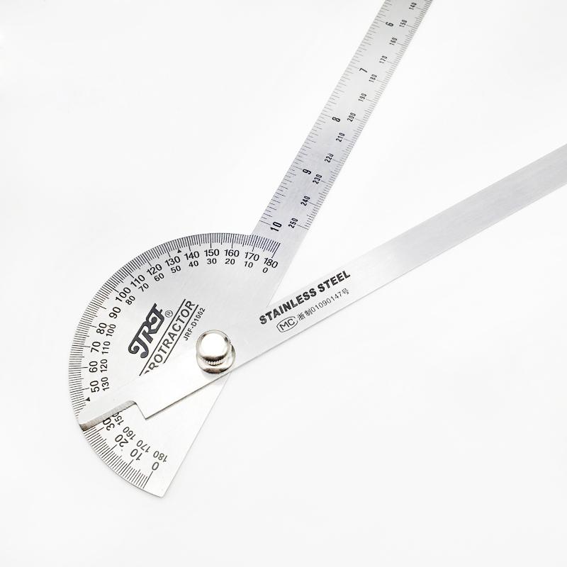 精锐锋工具角度尺 测量角度 量角器 木工分度规 不锈角度规 角尺