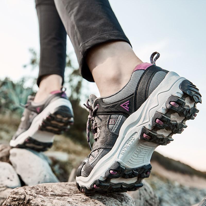 悍途登山鞋女款户外鞋秋季防水防滑爬山运动鞋轻便透气厚底徒步鞋