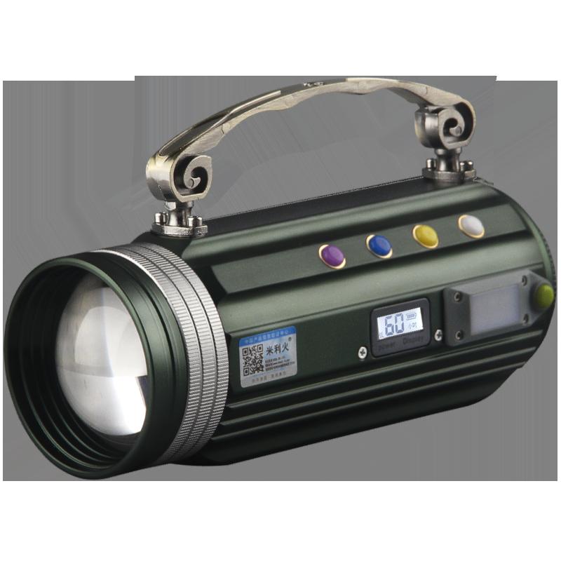 大功率变焦充电钓灯 1000W 钓鱼灯夜钓灯疝气超亮紫光蓝光灯强光