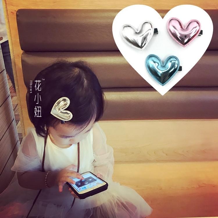 愛心髮卡 ins熱門兒童髮夾髮飾品日韓寶寶可愛邊夾劉海夾