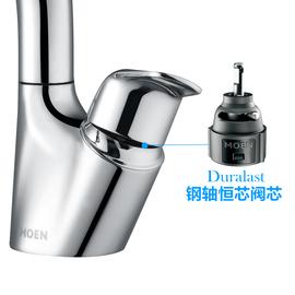 摩恩抽拉式水龙头冷热卫生间洗手脸盆家用台盆面盆龙头91035EC