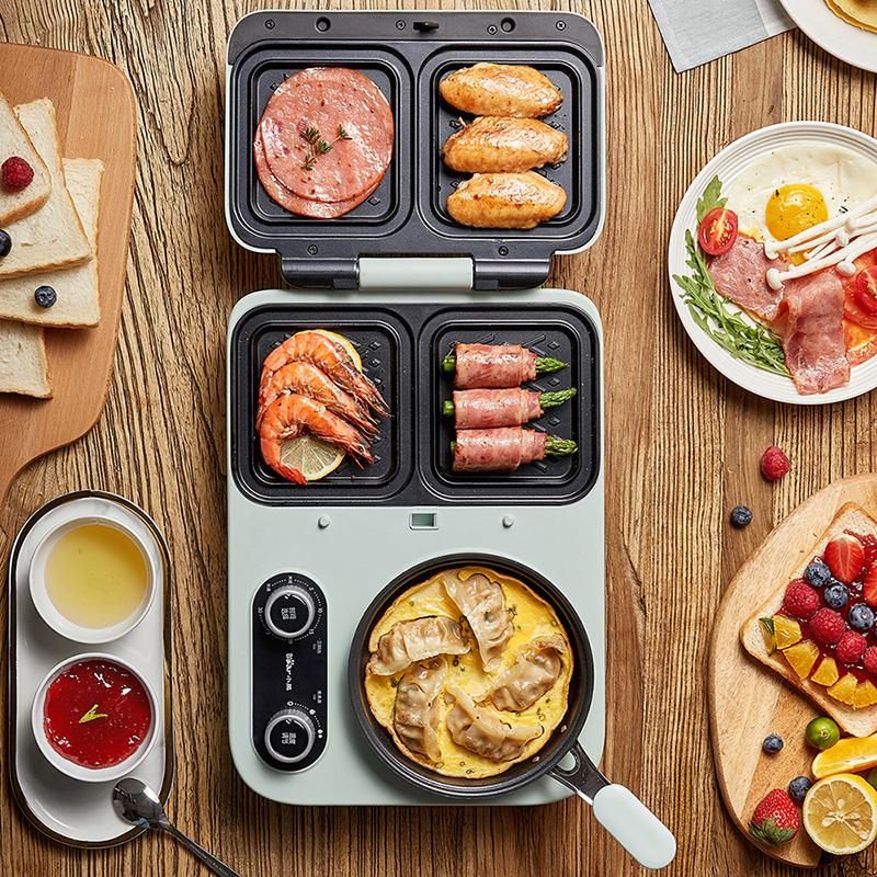 小熊三明治机轻食早餐机家用小型多功能四合一加热吐司压烤面包机主图
