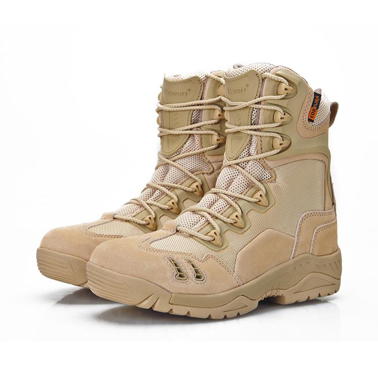 军靴男特种兵冬季07作战靴沙漠战术靴 高帮户外登山靴陆战靴军鞋