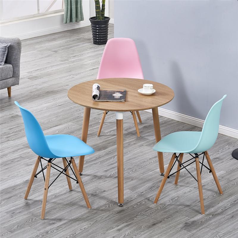 北欧洽谈桌椅组合现代简约洽谈室接待会客谈判洽谈桌休闲一桌四椅