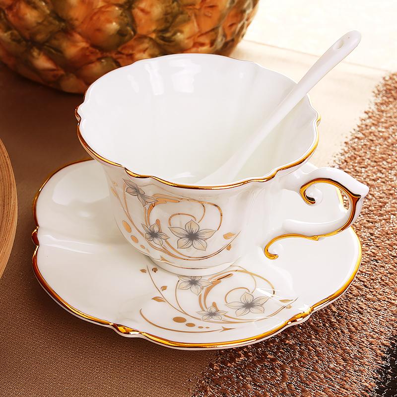 欧式陶瓷咖啡杯子套具英式小奢华茶杯家用下午茶精致套装骨瓷杯碟