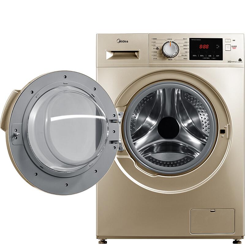 公斤大容量 10 滚筒洗衣机洗烘一体变频 MD100V332DG5 美 Midea