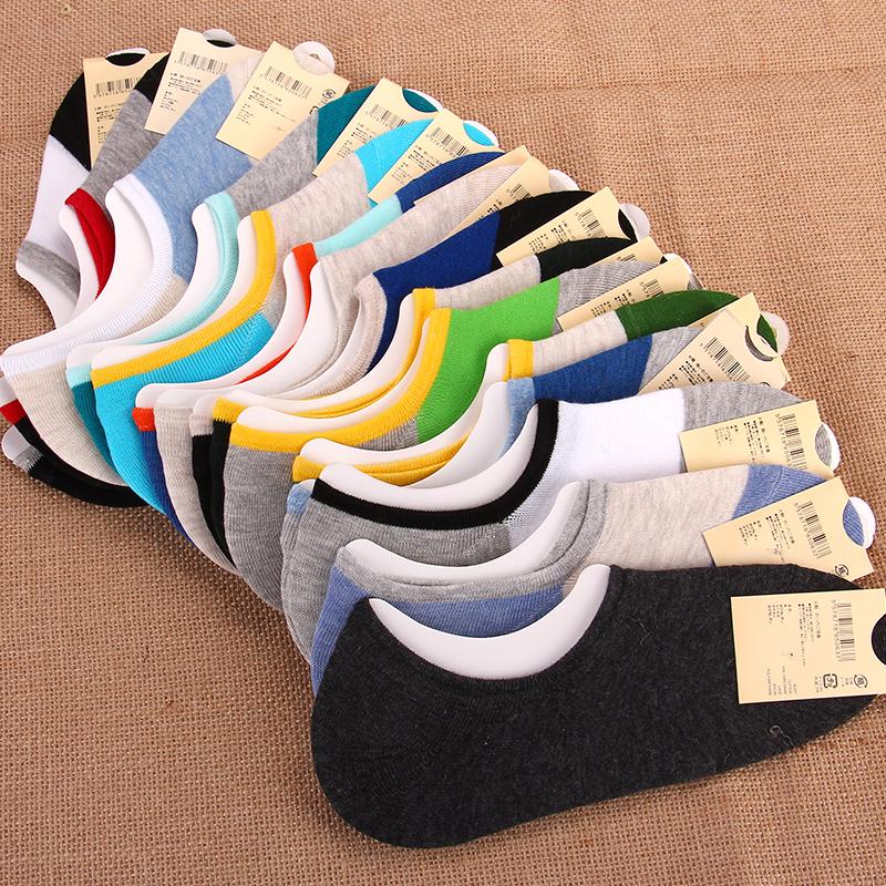 清仓】袜子男短袜棉袜运动袜隐形男袜防臭短筒夏季薄款男士船袜