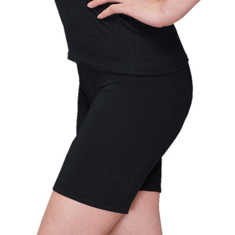 胖mm加肥加大码高腰纯棉五分打底裤200斤夏薄款女莫代尔安全短裤