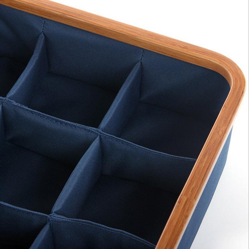 内衣内裤收纳盒分隔抽屉式日式牛津布分格短裤毛巾袜子文胸整理盒
