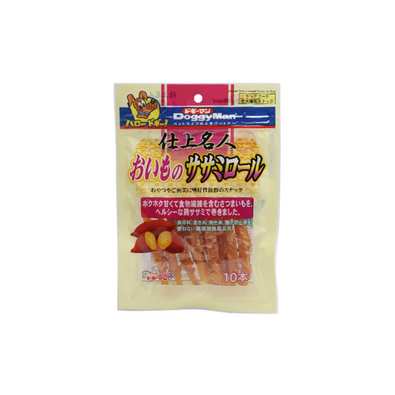 日本多格漫名仕系列犬用鸡肉绕大番薯卷10根 地瓜狗零食
