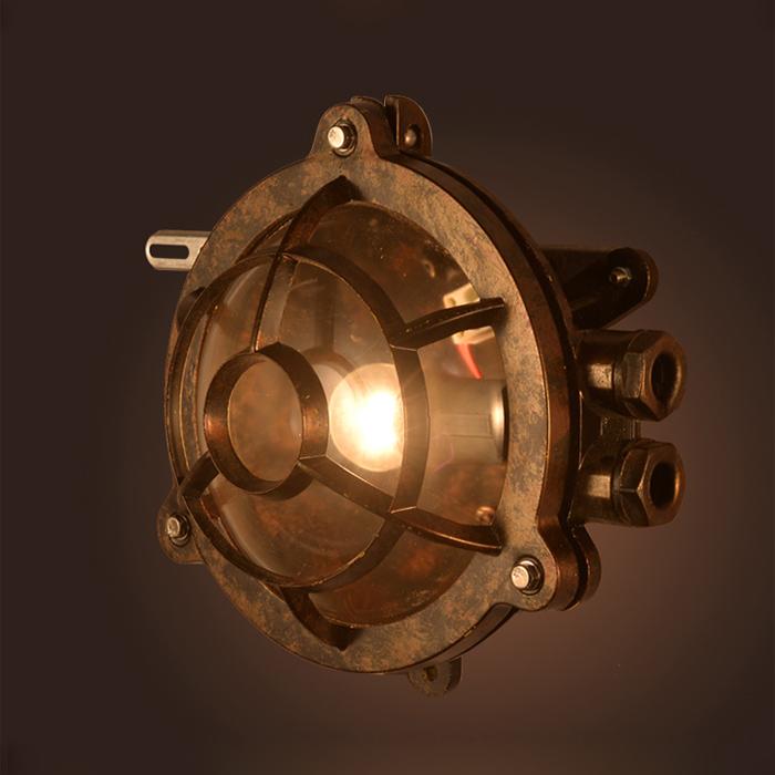 工业壁灯创意户外壁灯复古别墅防爆浴室吸顶灯吧台酒吧过道灯 LOFT