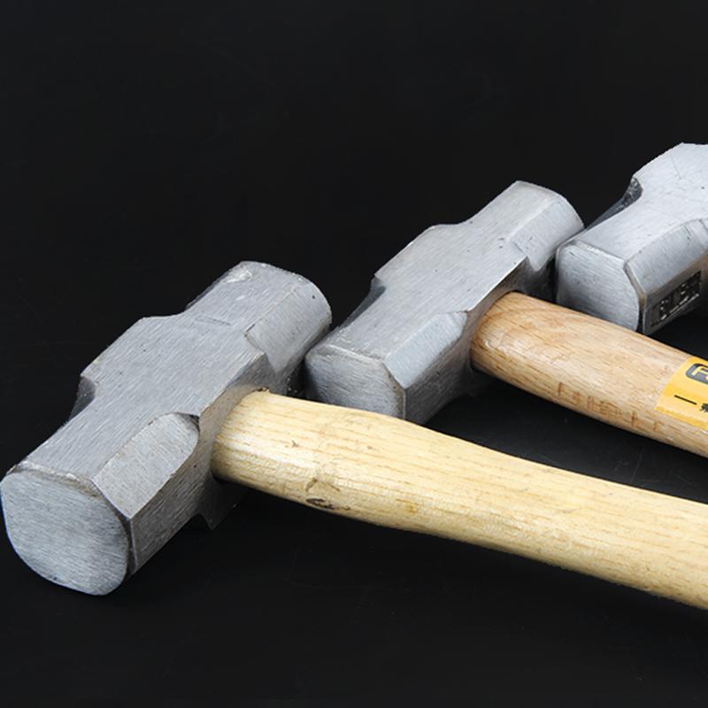 弗特消防八角大铁锤 方头石工锤头 木柄建筑榔头4P/6P/8P磅