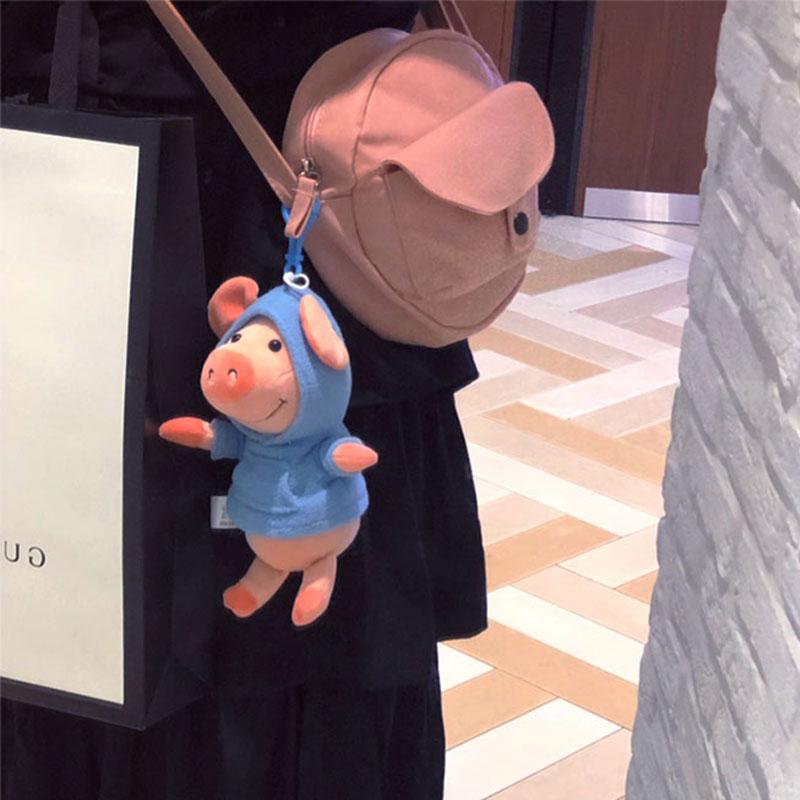 女生可爱钥匙扣书包挂件公仔玩偶小猪威比猪生日礼物情侣毛绒玩具