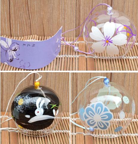 開店創意禮品陶瓷玻璃風鈴日式四季風鈴日本和風掛飾掛件櫻花多款