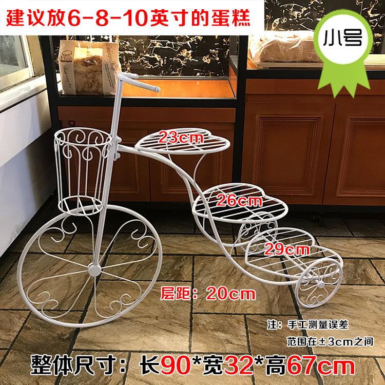 伍度欧式创意铁艺三层蛋糕架子婚庆婚礼生日多层自行车甜品展示台